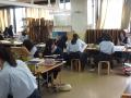 好文学园女子高等学校上课风景——美术课