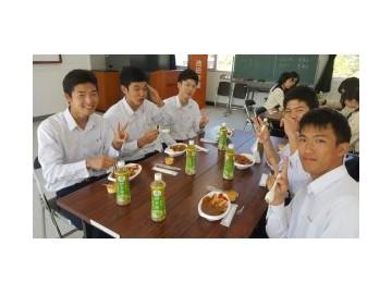 池田高中举行午餐激励会